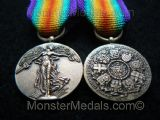 MINIATURE WW1 INTER ALLIED VICTORY MEDAL BELGIUM